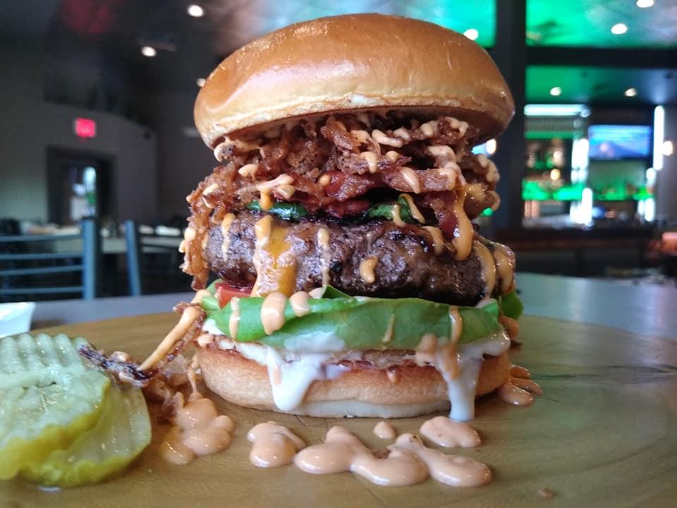 SOB The Duke Special Burger Cowboy Burger