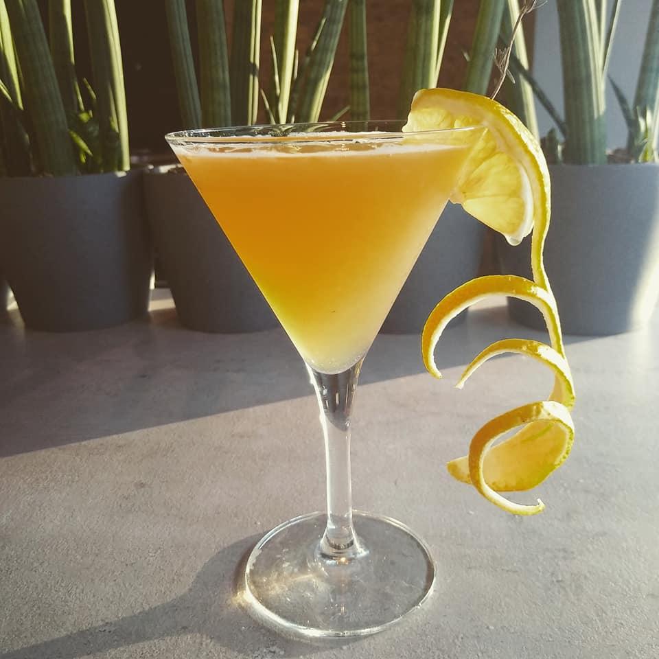 SOB The Teahouse Cocktail Thyme Lemon Tea Prairie Organic Vodka