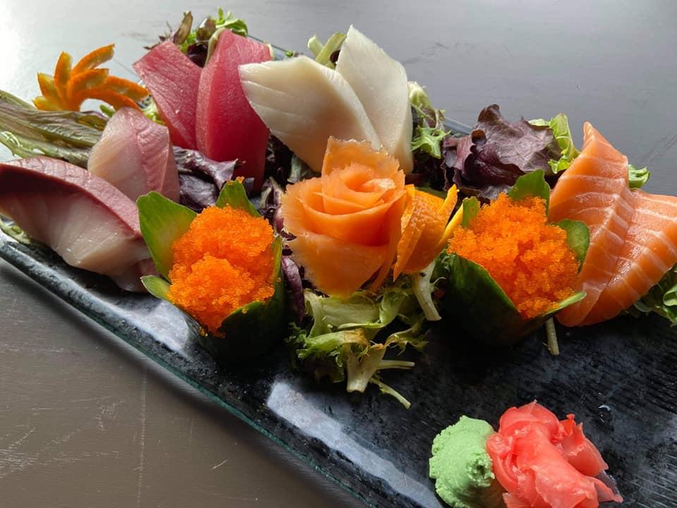 SOB Fresh Salmon Smoked Salmon Yellowtail Bluefin Tuna Albacore Tuna Sashimi