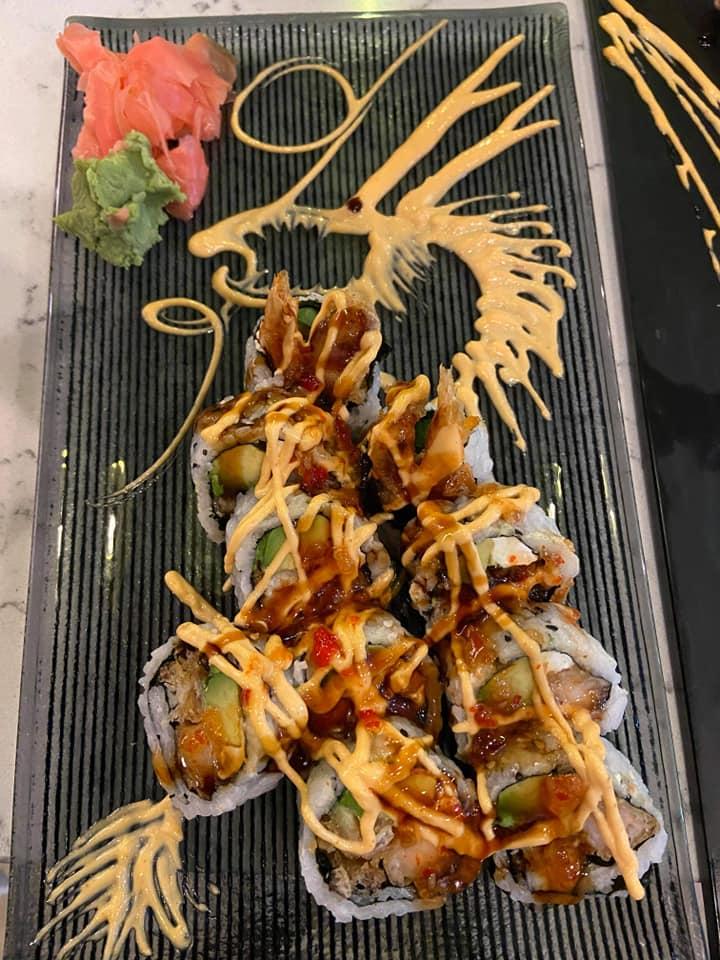 SOB Sushi Roll The I & M House Rolls Dragon Plate