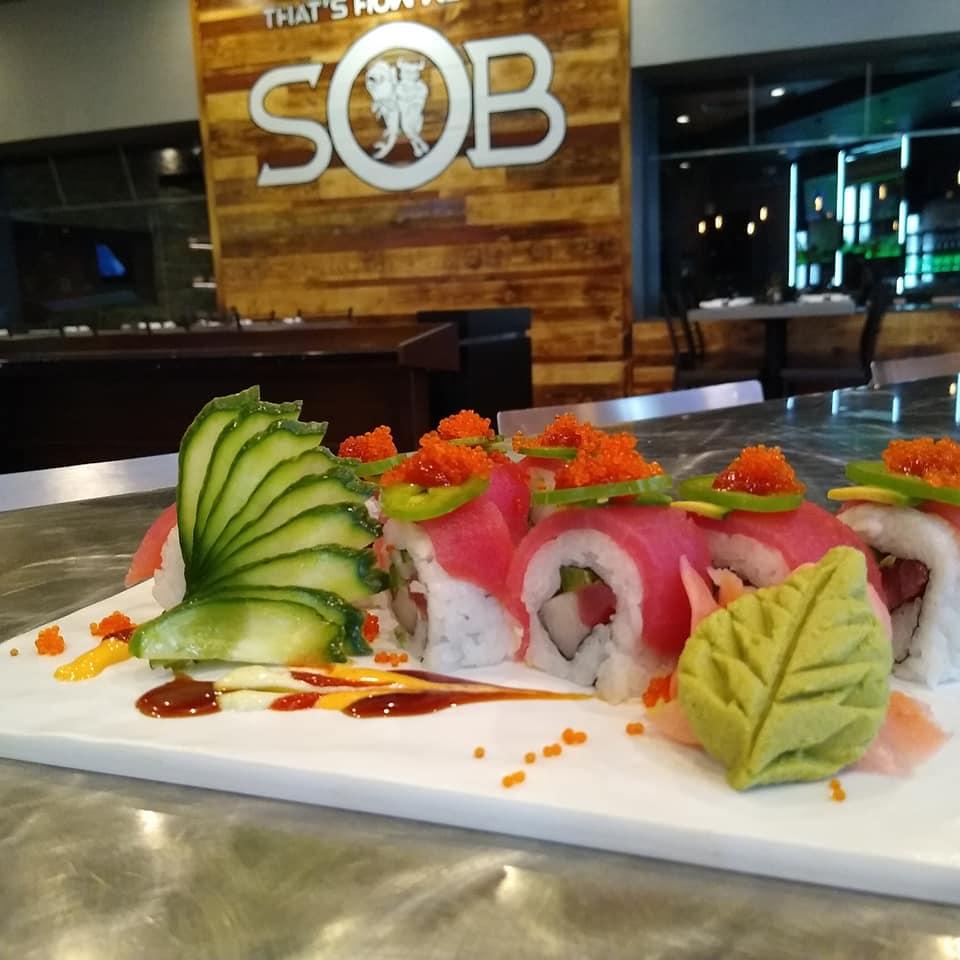 SOB Sushi Roll Wall Logo Masago